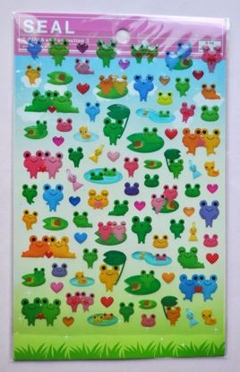 STIC108 Cute Frog Large Sticker Sheet