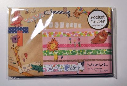 LETT117 Yuru Animals Pocket Letter Set