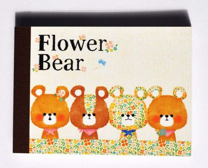 MINI184 Flower Bear Mini Memo Pad