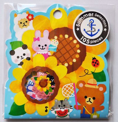 SACK187 Summer Selection Animals Sticker Flakes Sack