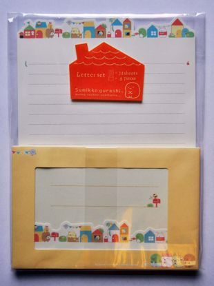 LETT186 Sumikkogurashi Our House Letter Set - B