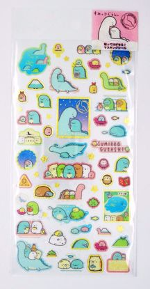 STIC568 Sumikkogurashi Lizard & Mother Sticker Sheet - A