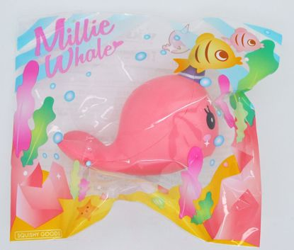 SQUISH736 iBloom Super Soft and Slow Rising Scented Mini Millie Whale Squishy - Surprised Millie