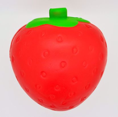 SQUISH1833 Super Jumbo Soft and Slow Rising Strawberry Scented Super Big Strawberry Squeeze - Red Strawberry