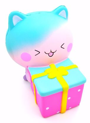 SQUISH1979 Taburasaa Super Soft and Slow Rising Scented Kitten with Gift Squishy in Box - A