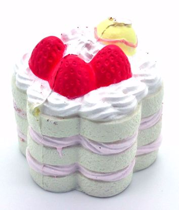 SQUISH2011 Nic Cafe de N Scented Soft and Slow Rising Sponge Cake Squishy - Milky