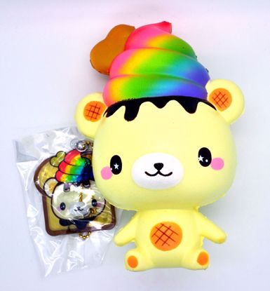Buy Puni Maru x Creamii Candy Super Soft and Slow Rising Scented Rainbow Yummiibear Squishy