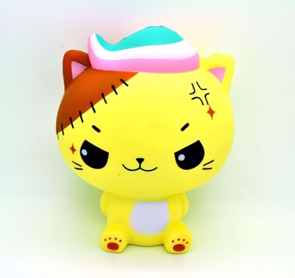 Buy Cutie Creative x Luna Tabby Super Soft and Slow Rising Jumbo Monster Minty Cat Squishy - Yellow Kitty