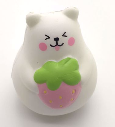 Buy iBloom Super Soft and Slow Rising  Scented Mini Marshmallow Bear Squishy - Pink Strawberry