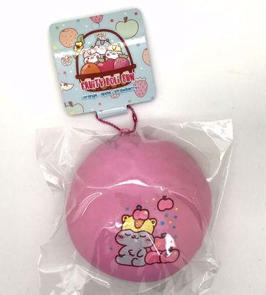 Buy Popular Super Duper Soft and Extra Slow Rising Jumbo Fruity Poli Bun Squishy - Apple Design Pink
