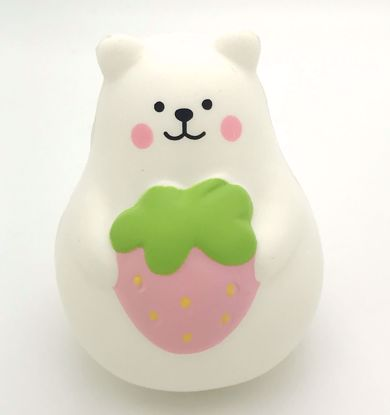 Buy iBloom Super Soft and Slow Rising Scented Mini Marshmallow Bear Squishy - Pink Strawberry B