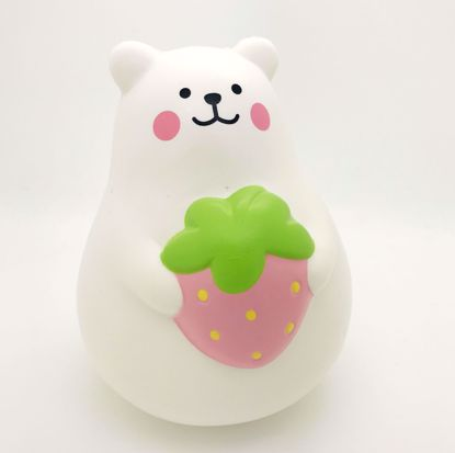Buy iBloom Super Soft and Slow Rising Scented Large Marshmallow Bear Squishy - Pink Strawberry A