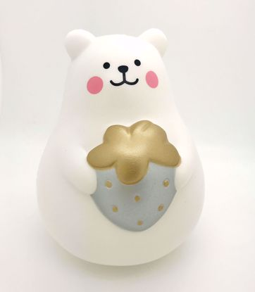 Buy iBloom Super Soft and Slow Rising Scented Large Marshmallow Bear Squishy - Silver Strawberry