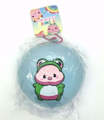 Buy Creamiicandy Super Soft and Slow Rising Fruit Scented Marshmellii Animals Jumbo Bun Squishy - Blue - Frog